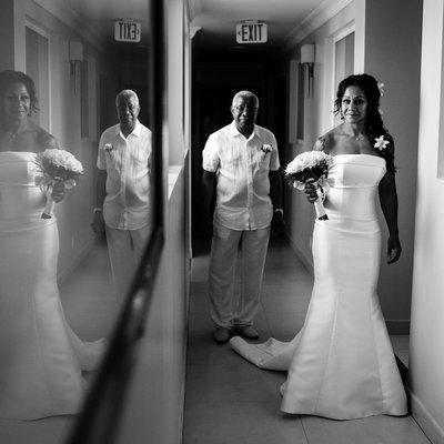 Bridal Portrait at Sea Breeze Beach House by Barbados Wedding Phtographer