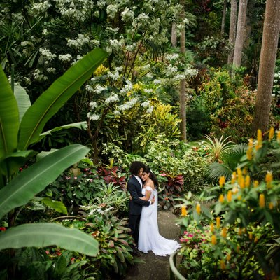 Wedding Photos at Hunte's Gardens in Barbados