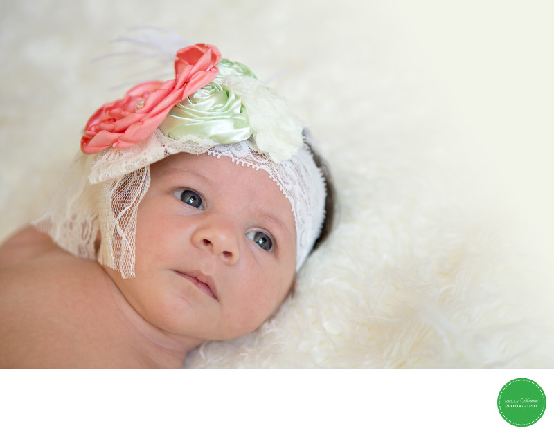 Etsy Headband Newborn Baby Girl Photography