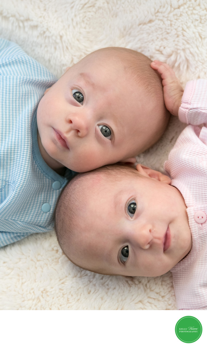 Twin Baby Portrait Session Westchester