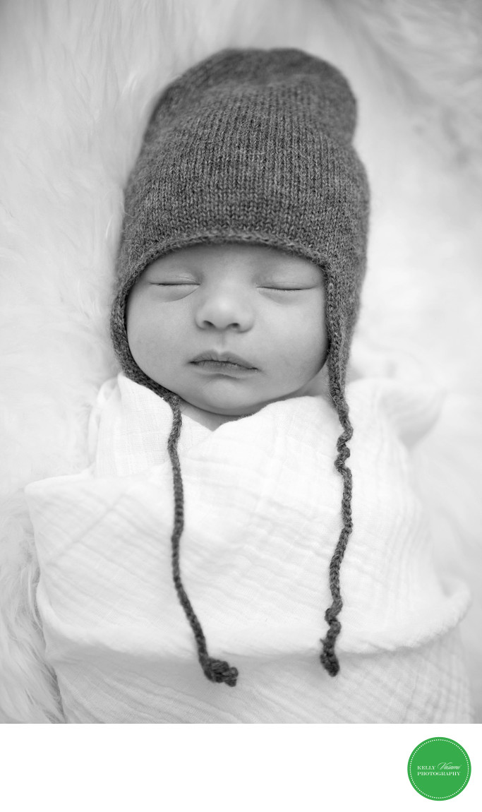 Black and White Newborn Photographer Westchester