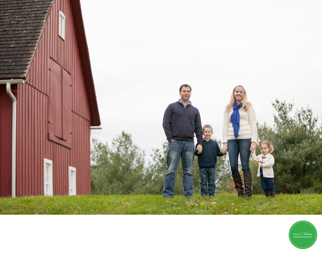 Family Portrait Session at Farm