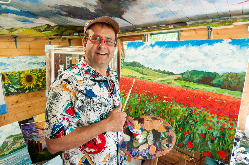 Timmy Mallett in his studio