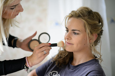 Getting Ready: Bride in Makeup