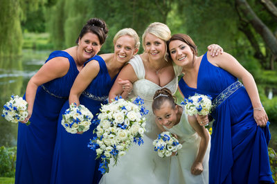 Fun Bride & Bridesmaids Hug
