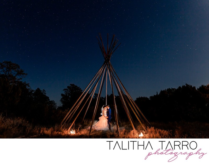 Blame Her Ranch Wedding teepee