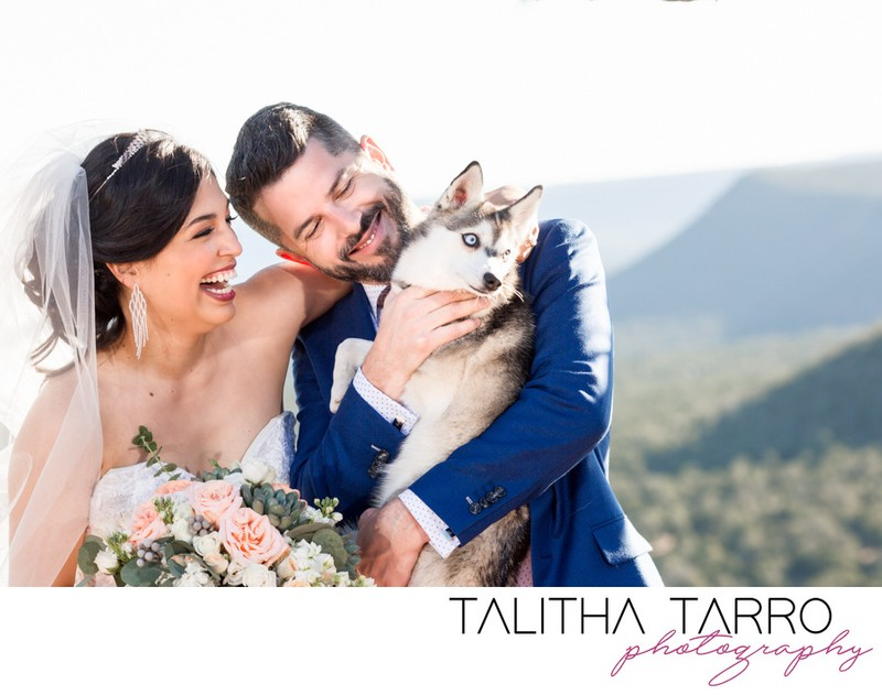 Blame Her Ranch Wedding Dog