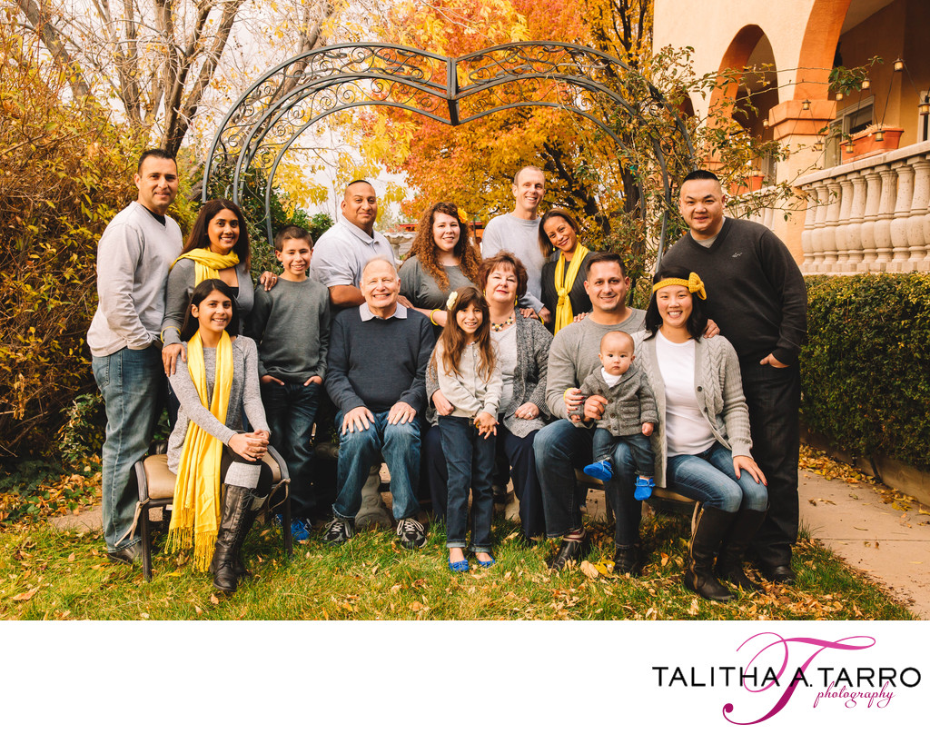 Large Family Outdoor Portrait