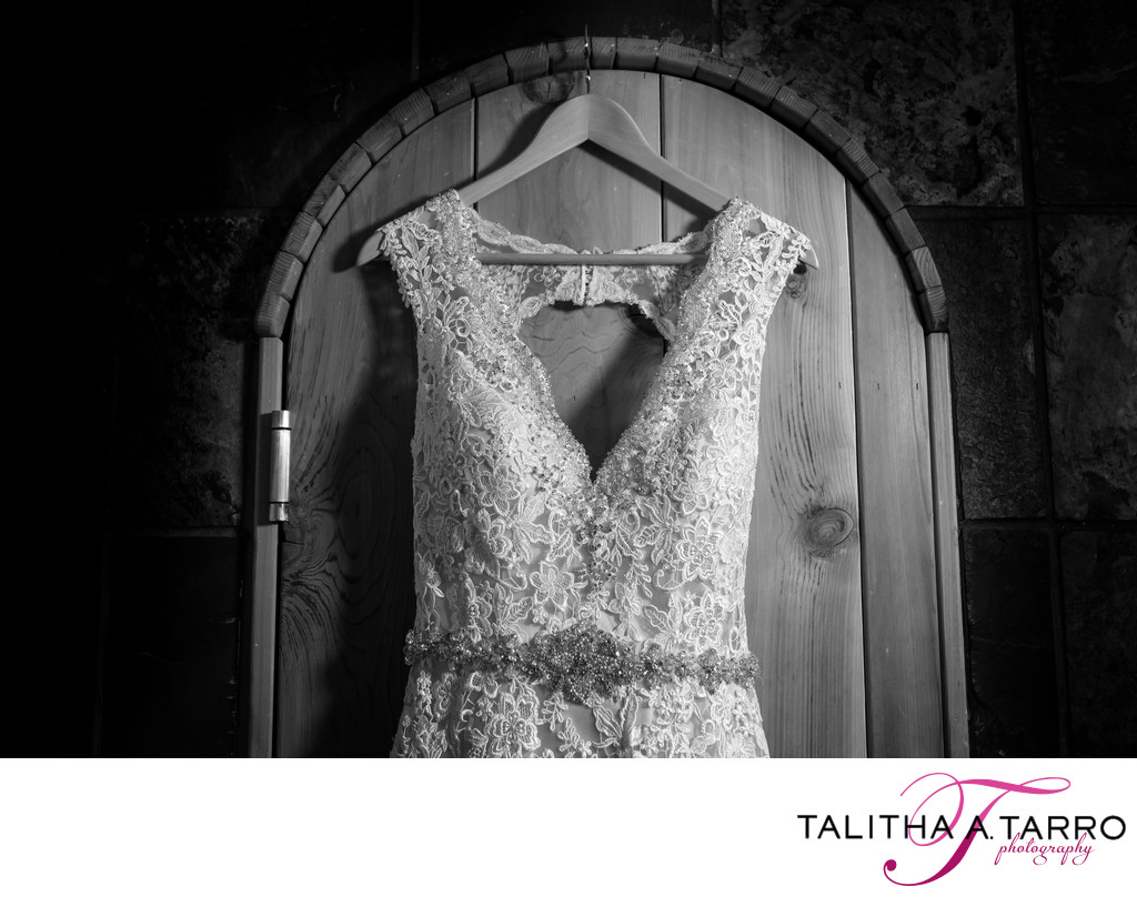 Wedding dress at the Silverpick Lodge in Durango