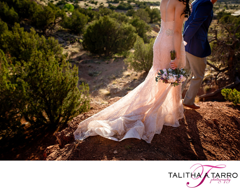 Creative Desert Wedding Portrait
