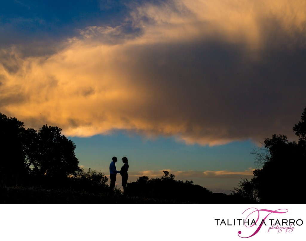 Silhouette Maternity session