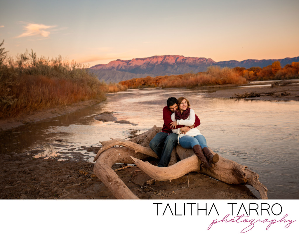 Autumn Engagement Bosque