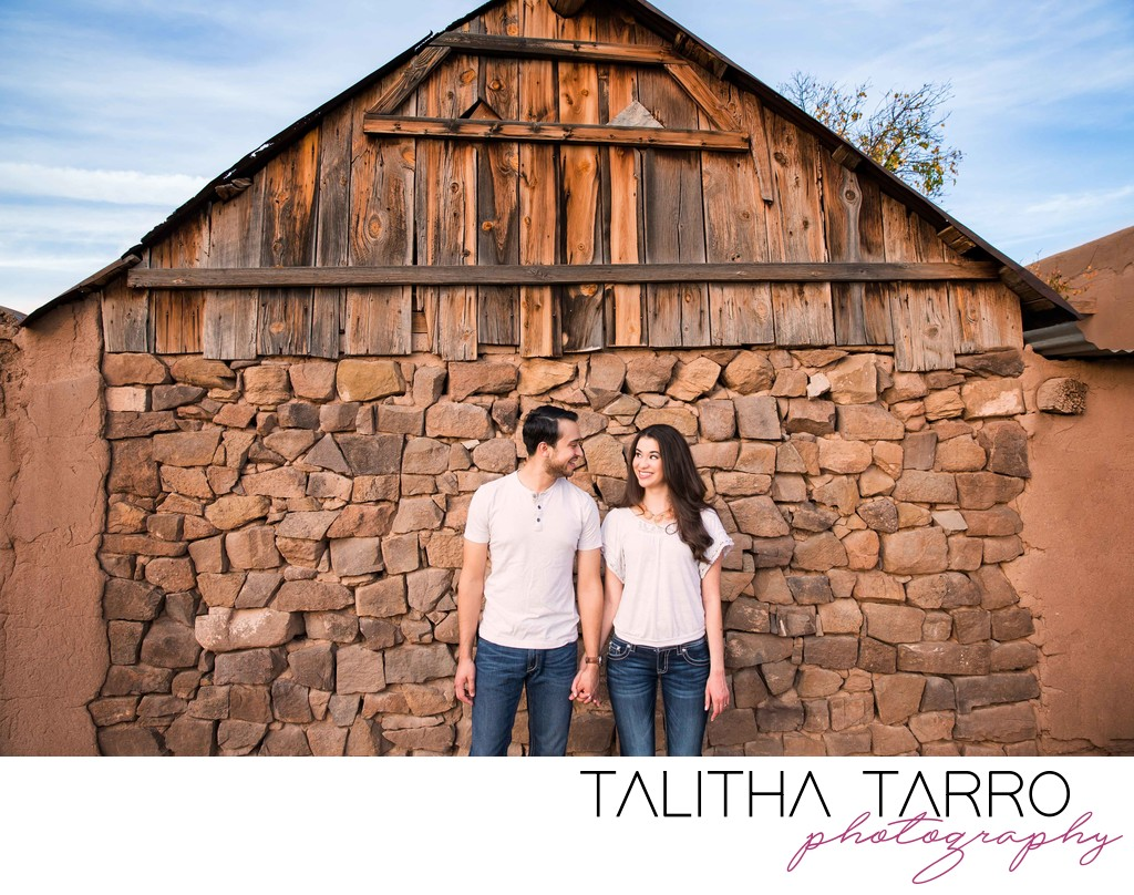 Rustic barn Engagement