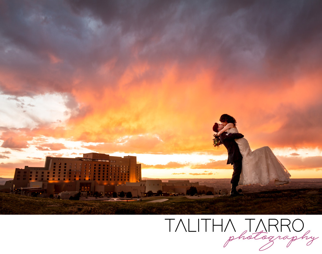 Epic Sunset Albuquerque Wedding