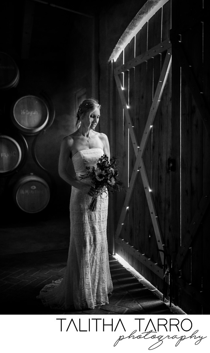 Barrel Room Bridal Portrait