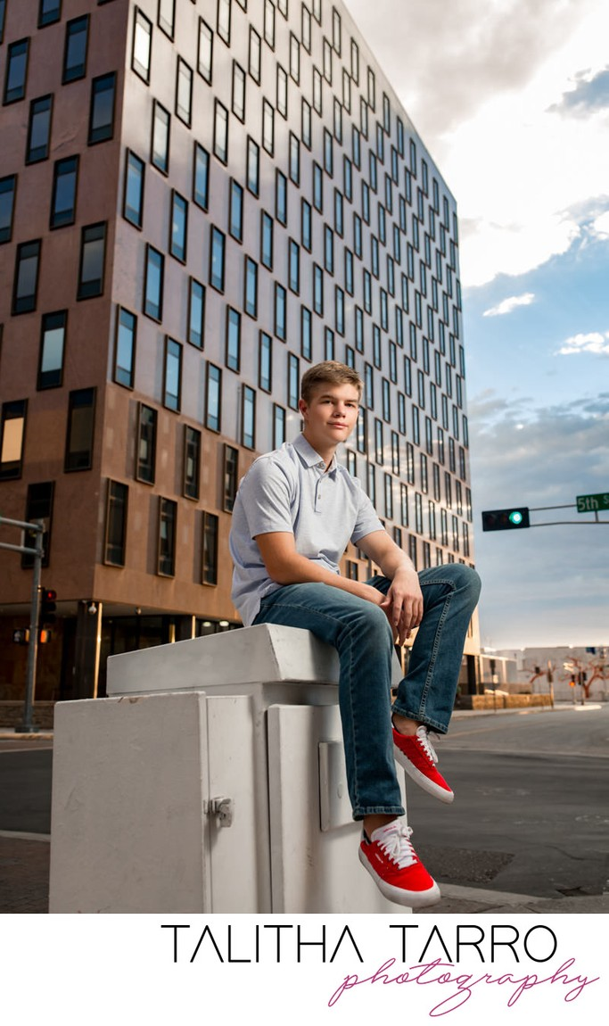 Senior Portrait Downtown
