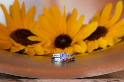 Wedding rings at nature Pointe