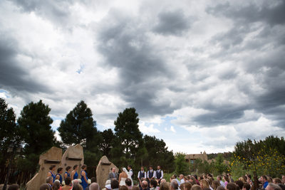 Nature Pointe Outdoor wedding ceremony