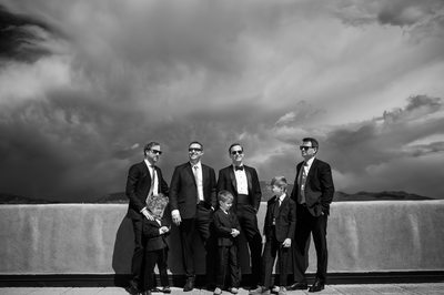 Groomsmen Portrait on the Eldorado Santa Fe Terrace