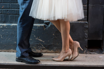 cute engagement session shoes