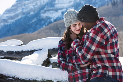 Durango Colorado winter engagement