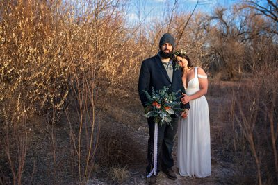 boho wedding couple albuquerque