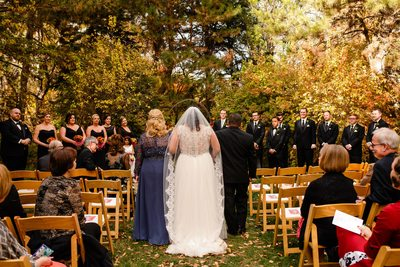 Garden wedding fall