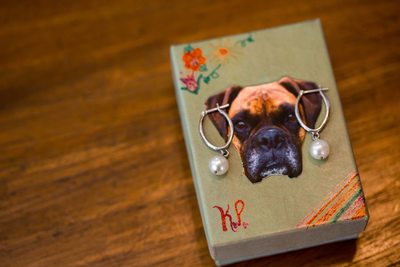 Dog detailed wedding jewelry box