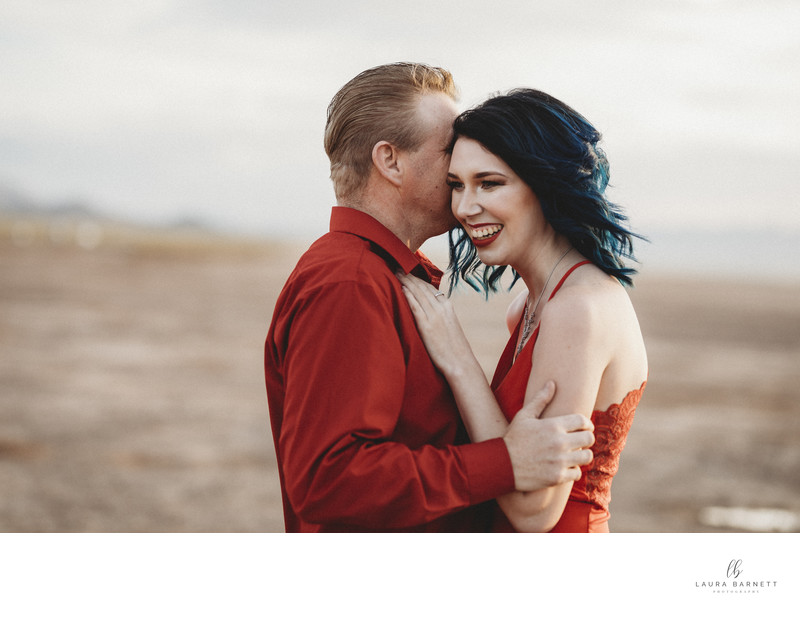 Las Vegas EngagementPhotographer-all in red