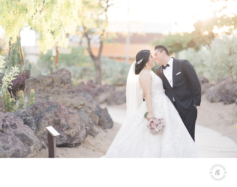 Las Vegas Wedding Photographer - Bride and groom cactus