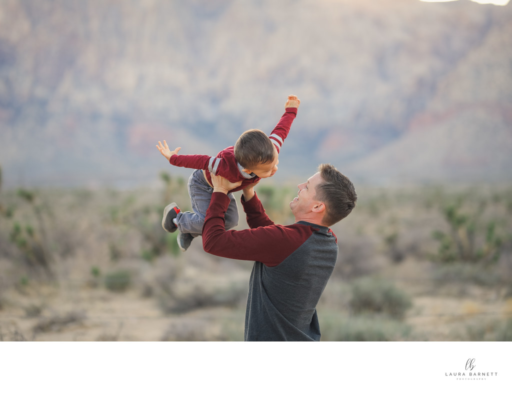 Las Vegas Family Photographer airplanes in the air
