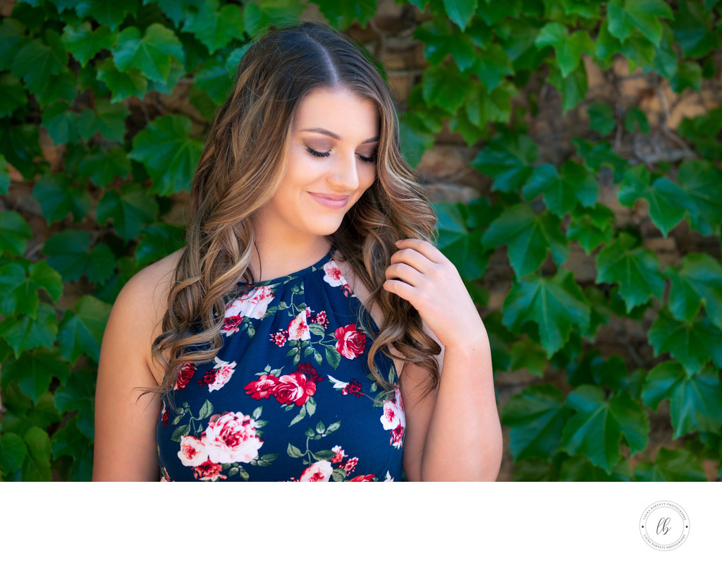 Floral dress senior pictures