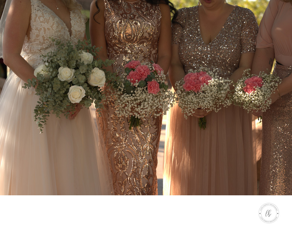 Las Vegas Wedding Photographer - Rose Gold dresses