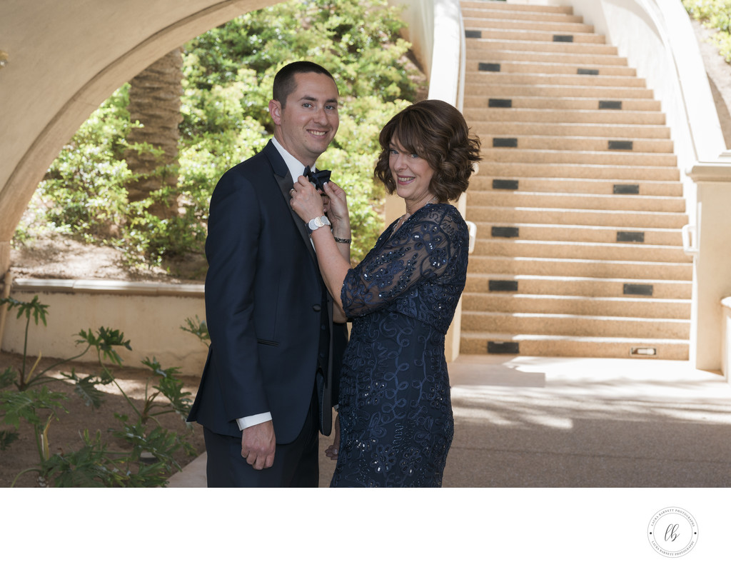 Las Vegas Wedding Photographer-groom and mother