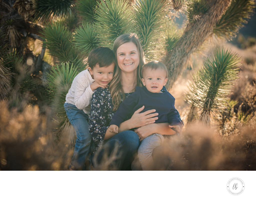 Las Vegas Family Photographer mom with two sons