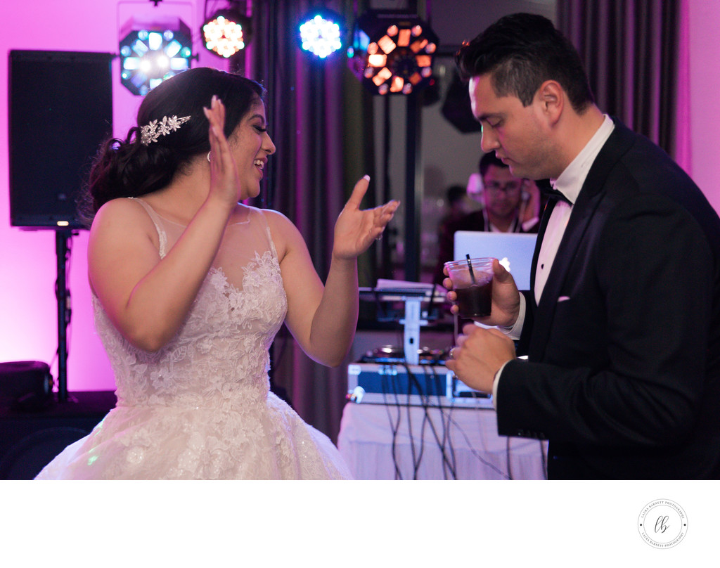 Las Vegas Wedding Photographer- Bride and groom dancing