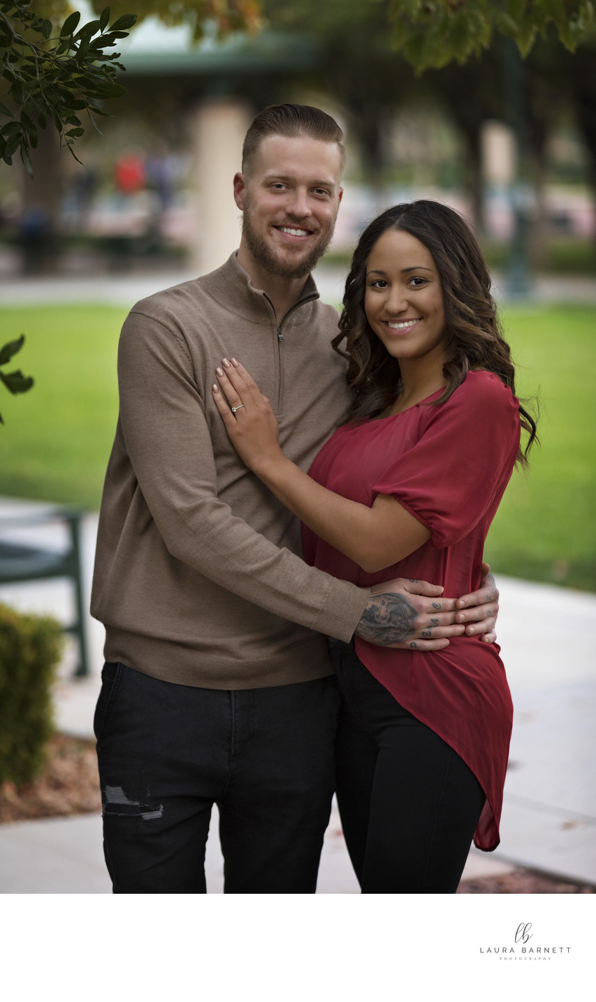 Las Vegas Engagement Photographer-couple at park
