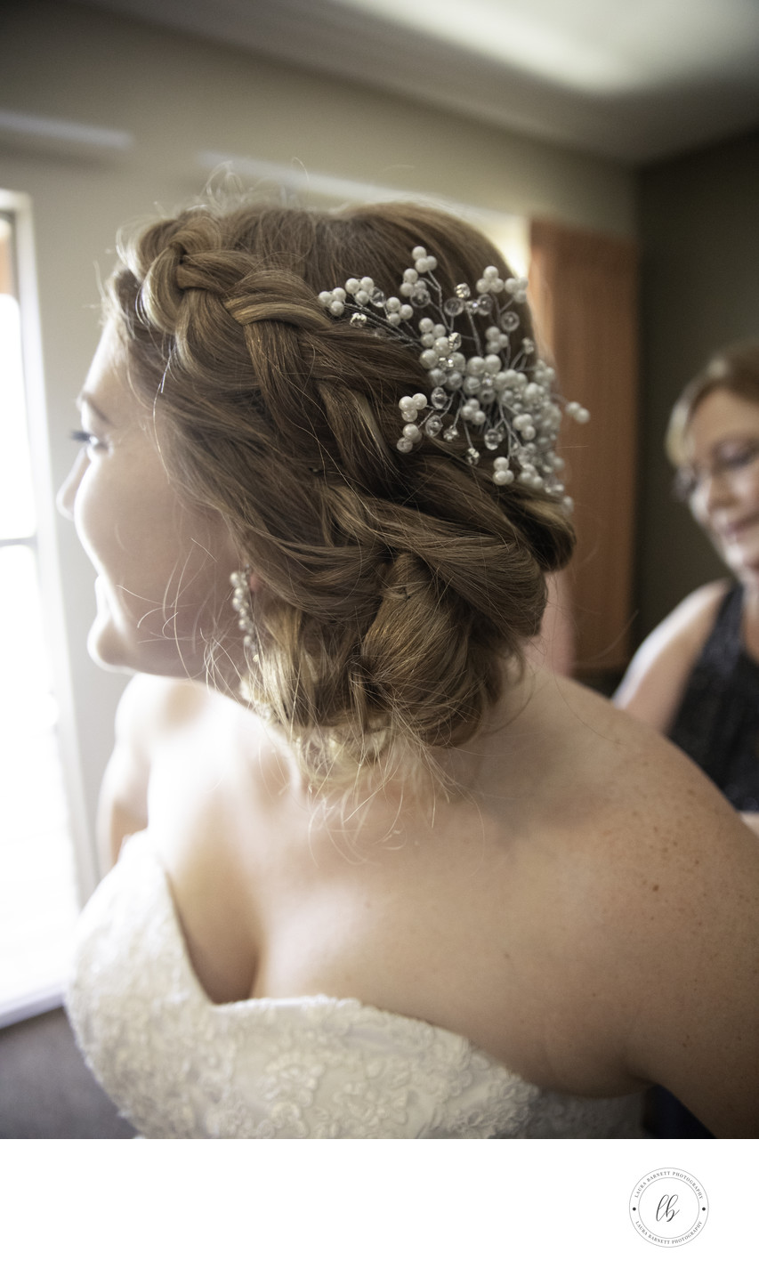 Las Vegas Wedding Photography bridal hairpiece