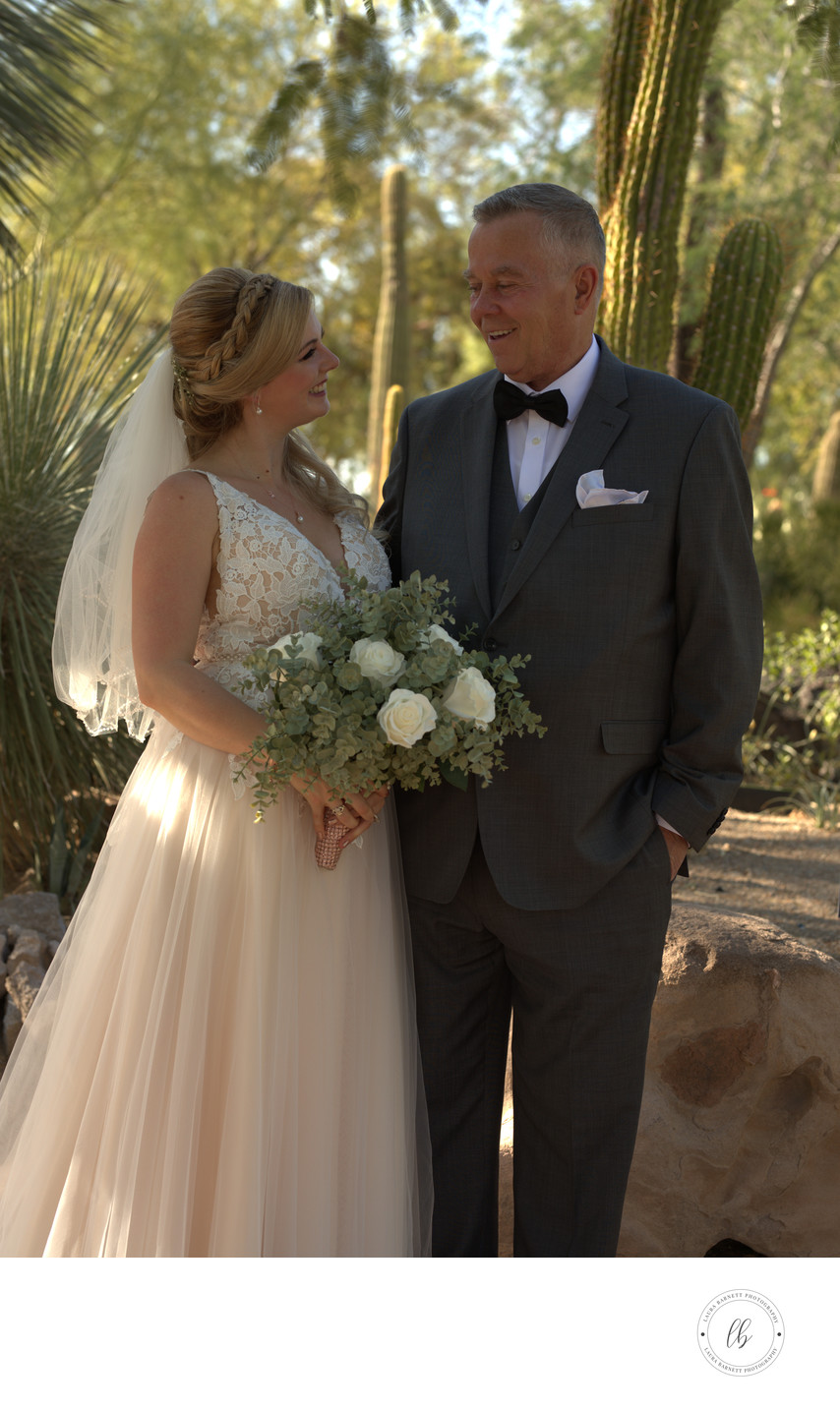 Las Vegas Wedding Photography bride with father