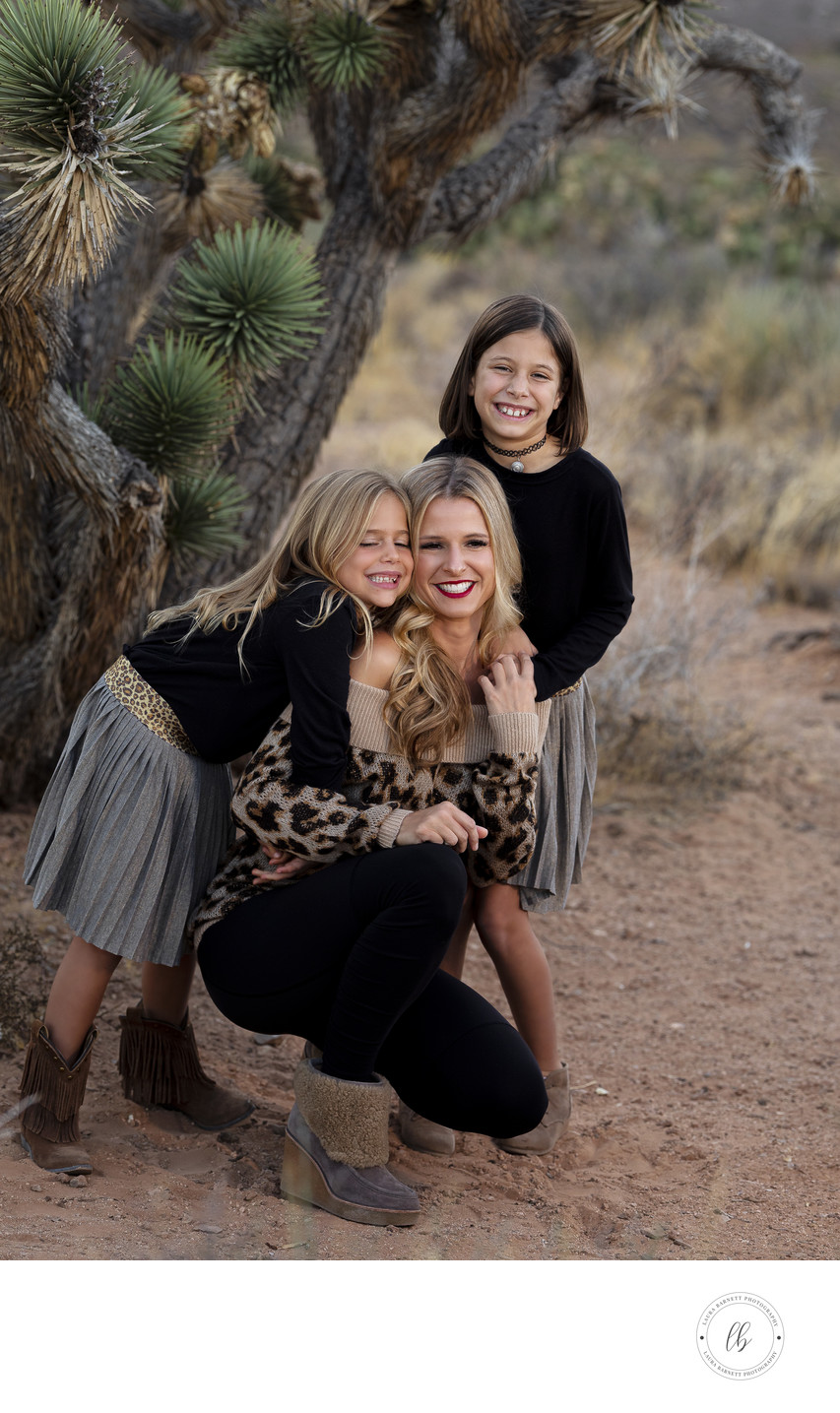 Las Vegas Family Photographer - mom and two daughters