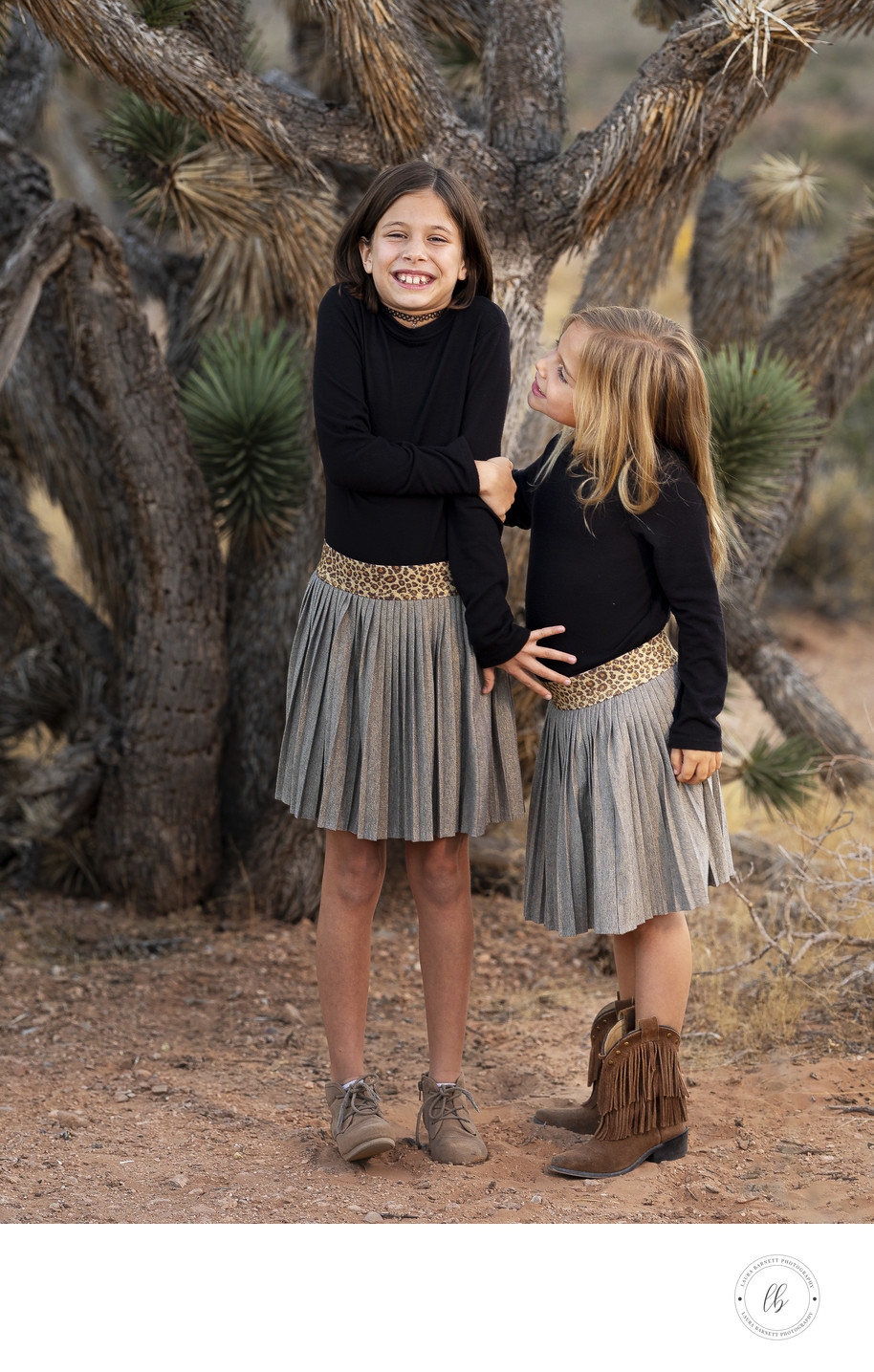 Las Vegas Family Photographer sisters in the desert