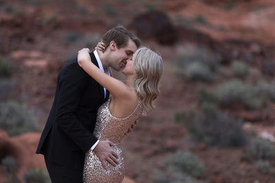 The kiss at Valley of Fire