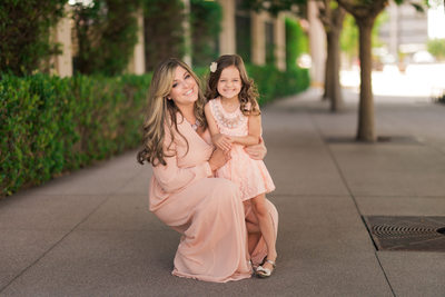 Las Vegas Family Photographer - Smiths center pink dress