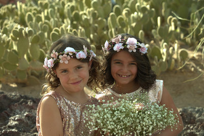 Flower girls at Ethel M