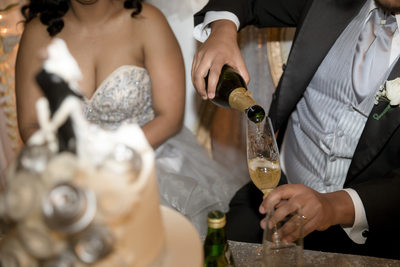Las Vegas Wedding Photographer-champagne poor