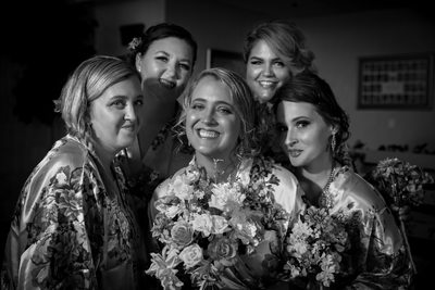 Las Vegas bride and bridal party