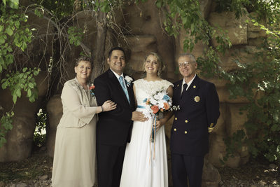 Las Vegas Wedding Photography bride groom with parents