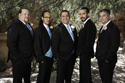 Las Vegas Wedding - Groom and Groomsmen