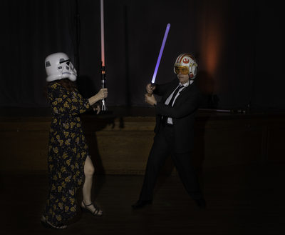 Las Vegas Wedding Star Wars Battle