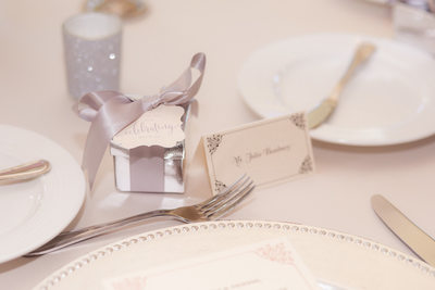 Las Vegas Wedding details name tags